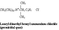 Lauryl dimethyl benzyl ammonium chloride (germicidal quat)
