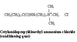 Cetylamidopropyldimethyl ammonium chloride (conditioning quat)