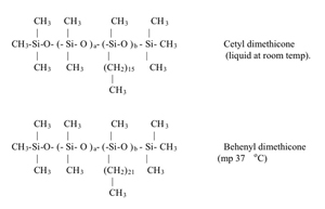 Cetyl dimethicone and behenyl dimethicone