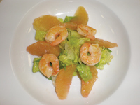 Grapefruit and Shrimp Caeser Salad
