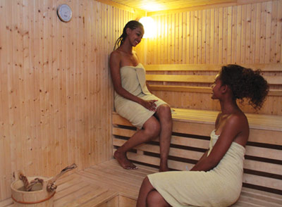 The+sauna+at+The+Haile+Resort