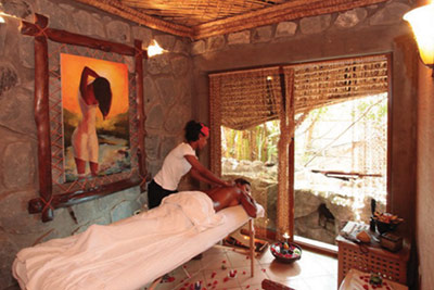 A treatment room at Kuriftu Resort and Spa Debre Zeit