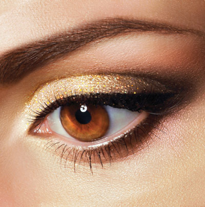 Brown+eyes+with+bold%2C+gold+eye+shadow++