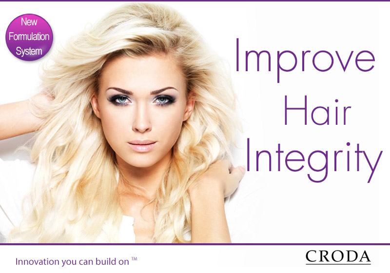 A lady with Croda products