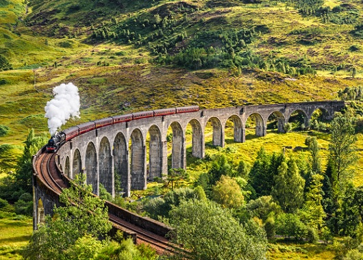 A train through Scotland
